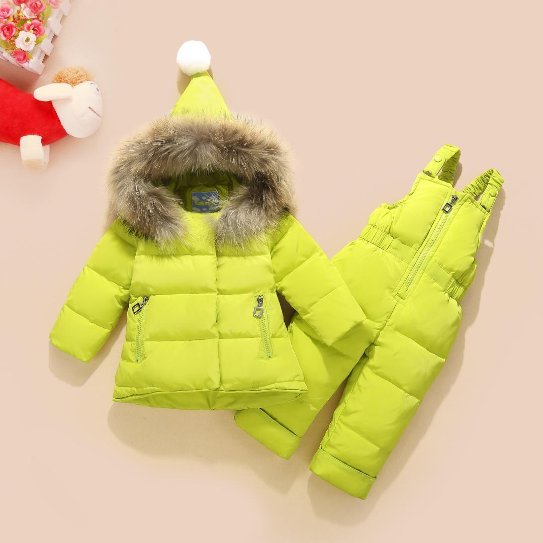0f3367463 Kava Feather Children s Down Jacket Suit Boys And Girls Fur Collar ...