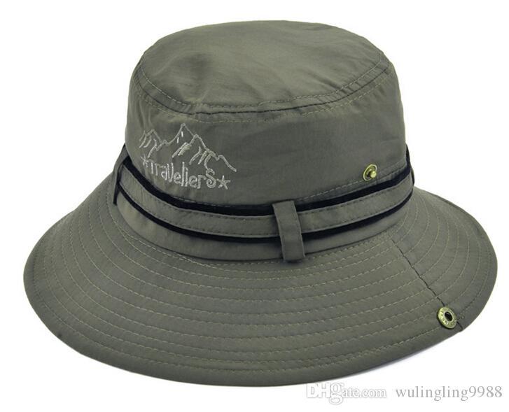 Unisex ampio bordo Boonie tappo Sunblock Pieghevole Pesca Caccia all'aria aperta Secchi Cappelli Sun Protettiva Cappelli pescatore i