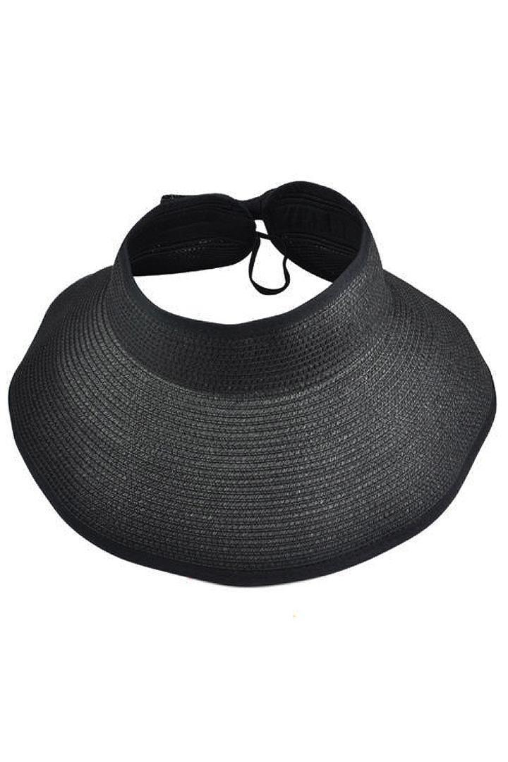 c989c643808cc NEW Womens Summer Foldable Beach Sun Visor Wide Brim Hat Cap Black Felt Hat  Summer Hats From Huteng