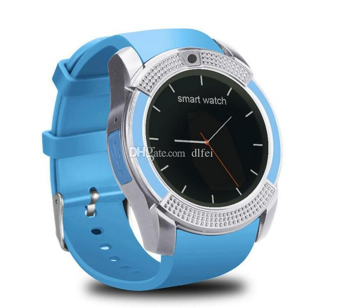 V8 Bluetooth Smart watch With 0.3M Camera SIM And TF Card Watch For Samsung Note 7 Cellphone IOS Iphone Smartphone With Box