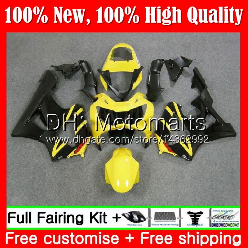 Body For HONDA CBR900 RR CBR 929RR CBR 900RR CBR929RR 00 01 54MT9 CBR 929 RR CBR900RR Yellow black CBR929 RR 2000 2001 Fairing Bodywork