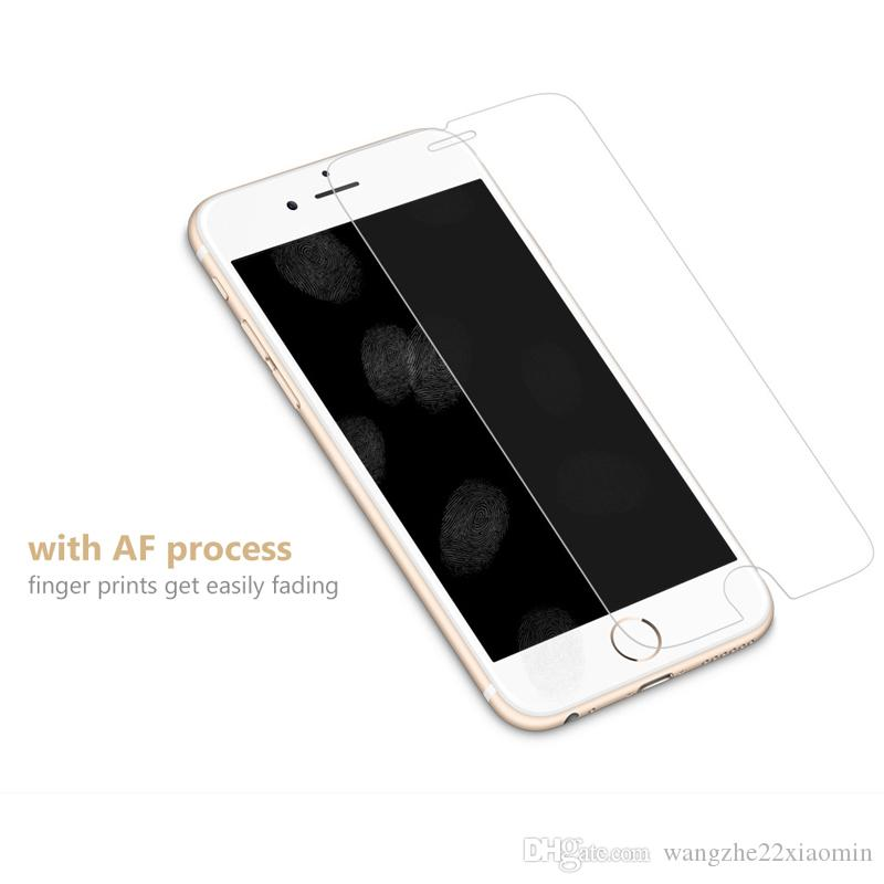 Para iPhone X 2.5D 9H Dureza Premium Película de vidrio templado Protector de pantalla transparente para iPhone 6 6 Plus 7 7 Plus