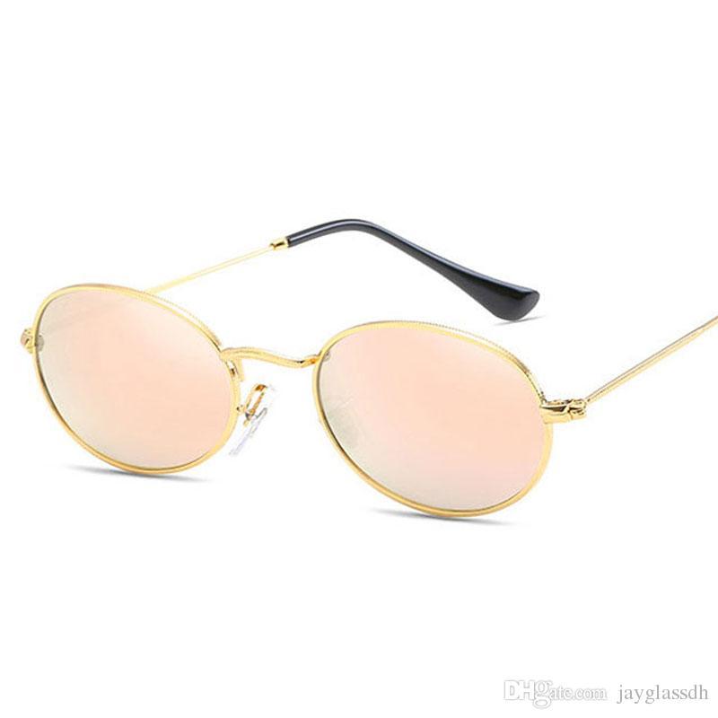Compre 2018 Nuevo Diseñador De La Marca Vintage Oval Gafas De Sol Mujeres    Hombres Retro Clear Lens Eyewear Gafas De Sol Para Mujer Uv400 A  8.65 Del  ... a365c2e3cbd0