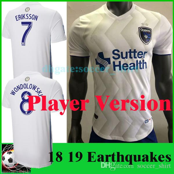 2019 Player Version 2019 San Jose Earthquakes White Soccer Jersey 18 19 MLS  Earthquakes Wondolowski Soccer Shirt Customized Football Uniforms From ... a6865e598