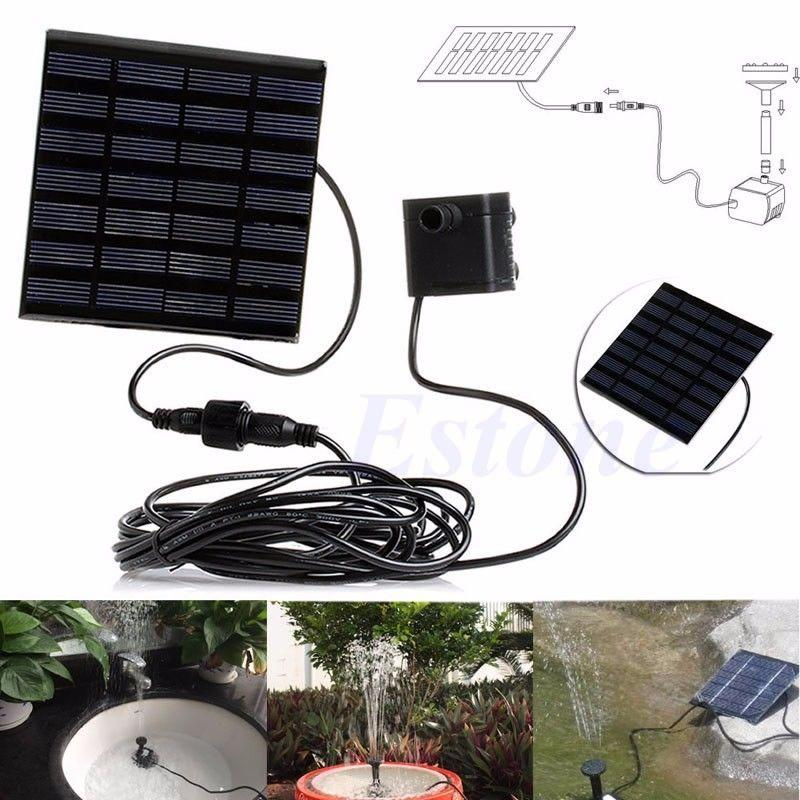 2019 Solar Power Water Pump Panel Kit Garden Fountain Pool Pond
