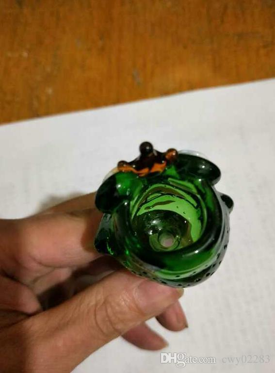 Лягушки мультфильм пузырь голова, стеклянные бонги аксессуары уникальный масляной горелки стеклянные трубы водопроводные трубы стеклянная труба нефтяные вышки курение с капельницей