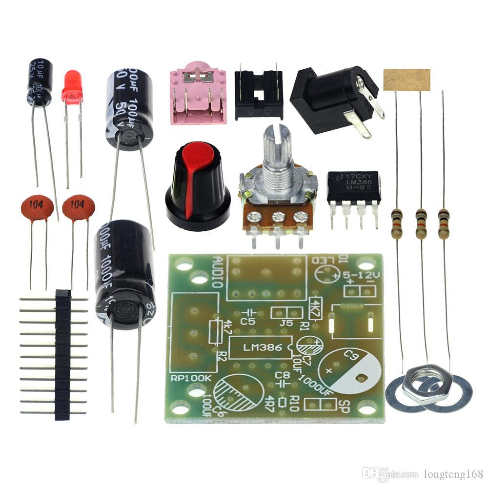 Smart Electronic Diy Kit Lm386 Super Mini Audio Amplifier Working Operation Of Ic Suite Trousse Amplificador Module Board 35mm 3 12v