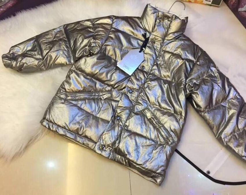 ea6c5ec22 Kids Silver Down Jacket Duck Down Coat For Children Winter Warm ...