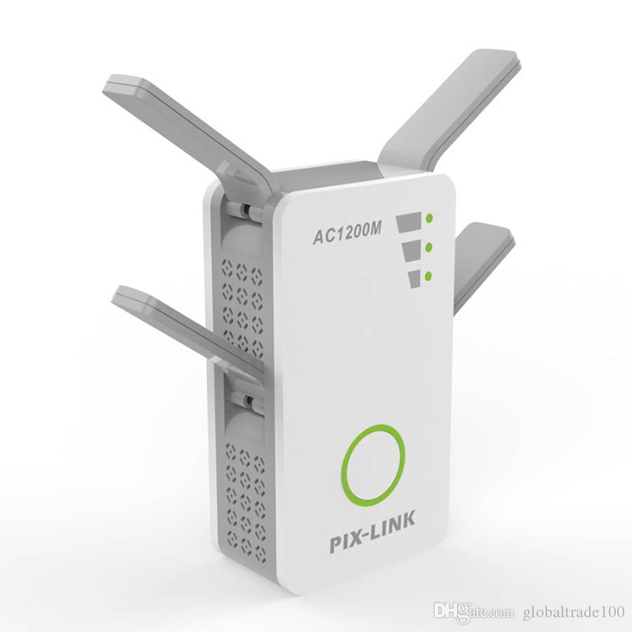 Wireless AC Dual Band 1200M 2.4Ghz 5GHz Mini Router Wifi Range With 4 External Antennas US/EU/UK/AU Wall Plug