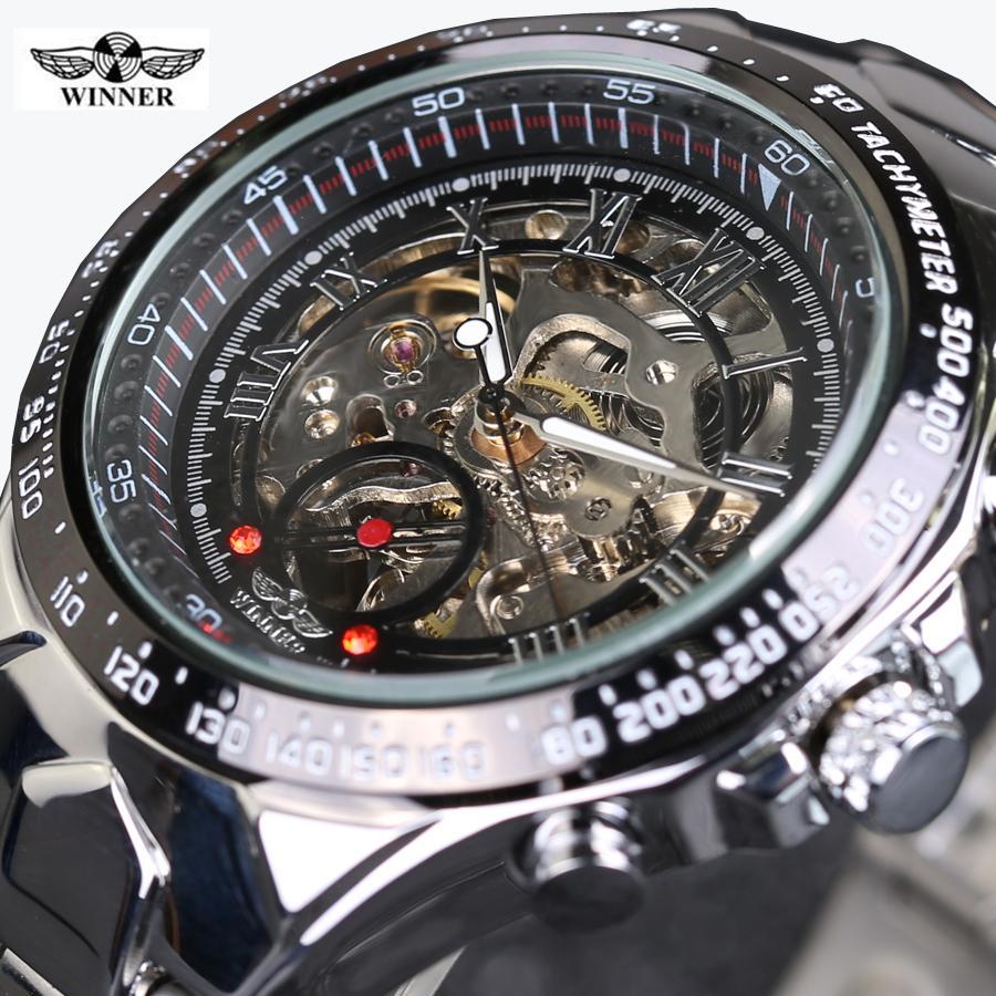 0b604a68788 Compre Mens Relógios Top Marca De Luxo Relógio Homens Automático Esqueleto  Assista Montre Homme Vencedor Novo Número Esporte Design Bezel Relógio De  Ouro De ...