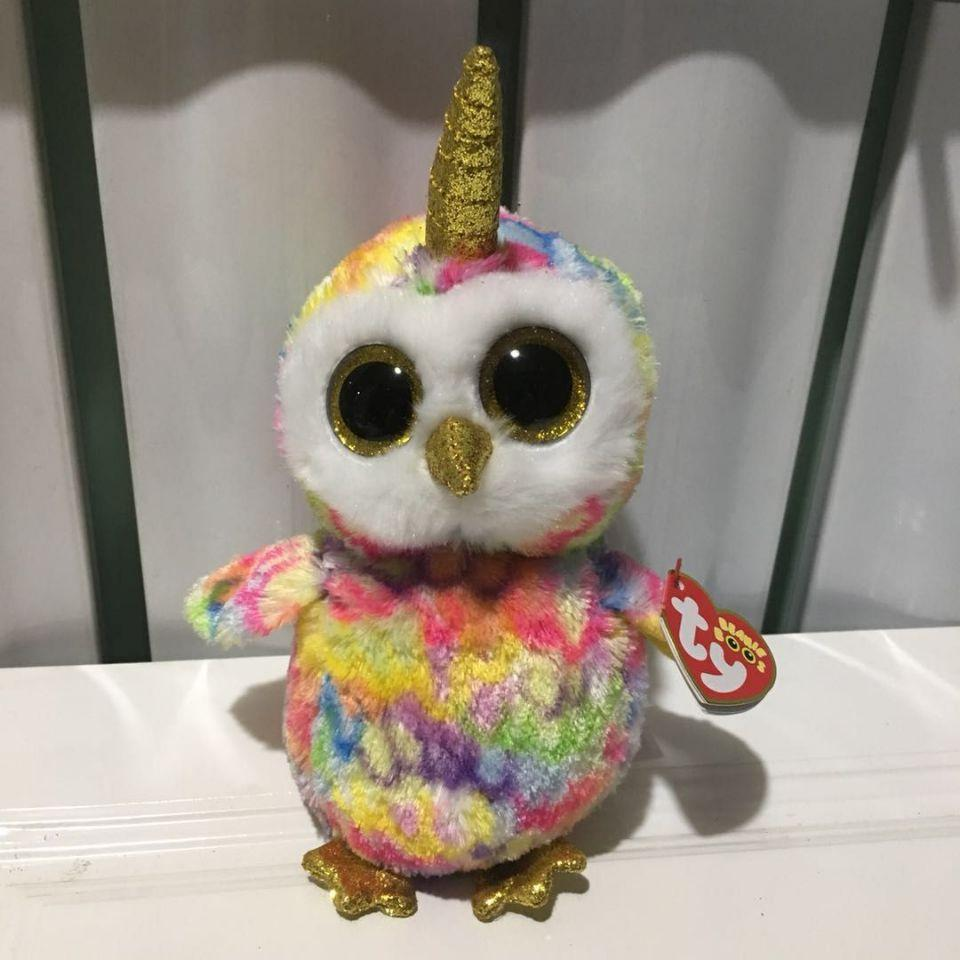 2019 Enchanted Owl TY BEANIE BOOS Collection BIG EYE Plush Toys Stuffed  Animals Soft Toy Baby Toy Decor From Fashion09 99aa613a5d25