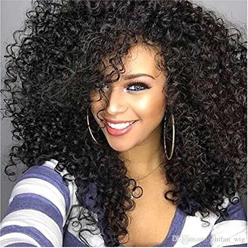 Z F Curly Wigs Look For Black Women Afro Kinky Curly Black Wig Styles  Fluffy Korean Fiber Vanessa Synthetic Wigs Glueless Full Lace Wigs From  Zhifan wig 4c86e96baf16