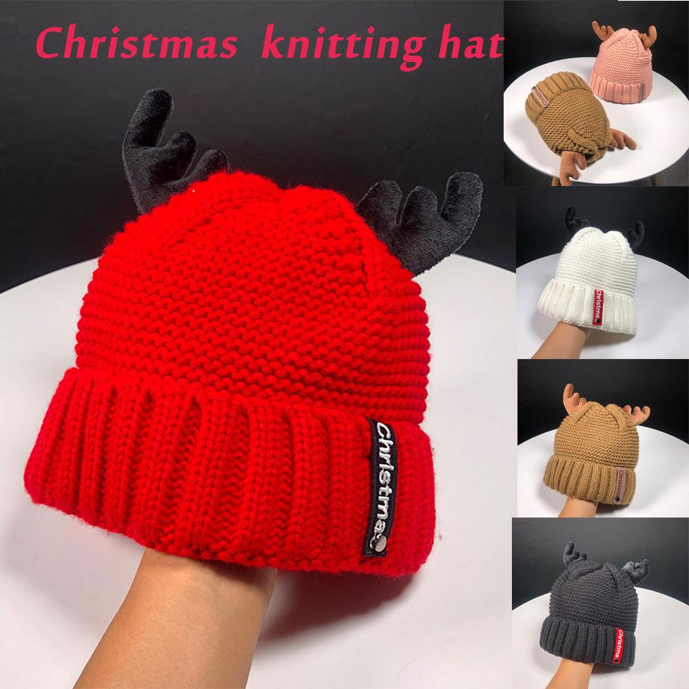 2019 New Women Autumn Winter Cashmere Antler Hat Knitting Wool Warm  Christmas Hat Cute Ski Slouchy Caps Fashion From Ekuanfeng e46bfc07bb3