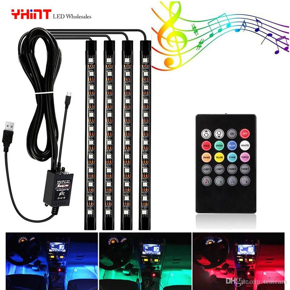 Atmosphere car led lights strip 4 in 1 with music controller color atmosphere car led lights strip 4 in 1 with music controller color change with music rhythm usb led lights for car striplight waterproof led strip from aloadofball Image collections