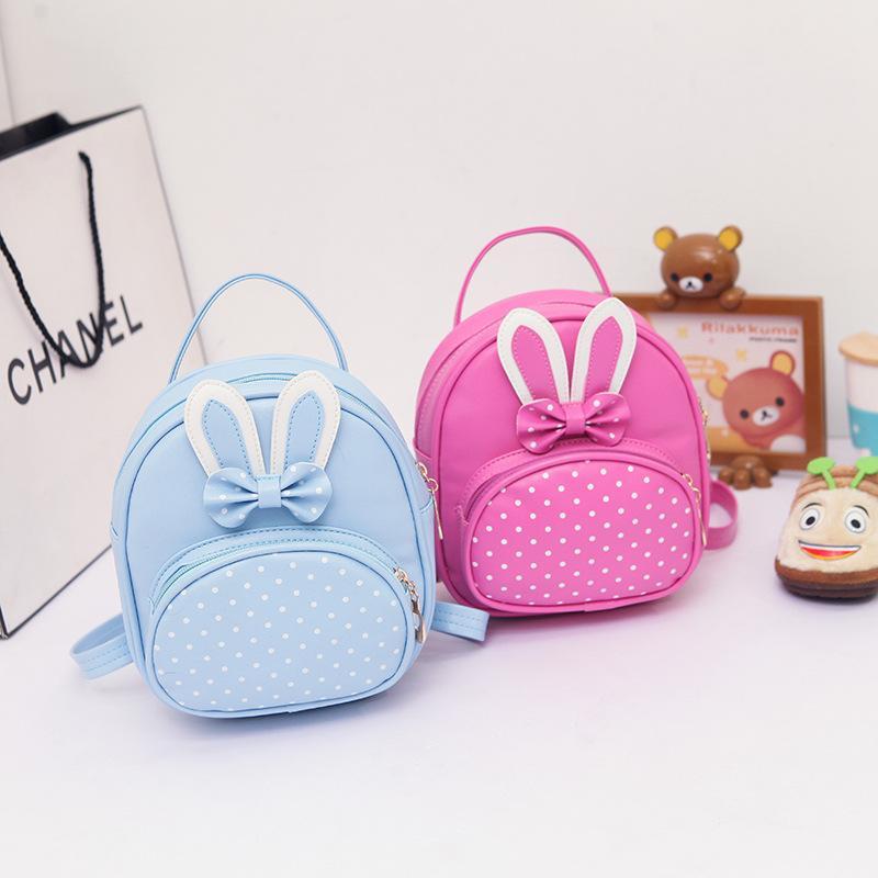 3ab93fb9a98e New 2018 Cute Backpack For Children Baby PU Rabbit Ears Mini Back Pack  Kawaii Girls Kids Small Backpacks Kindergarten Schoolbag Purses School Bags  From ...
