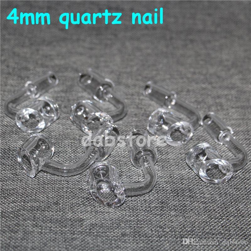 Seau à miel clou à quartz clou à titane clou sans bille 18 mm 14mm 10mm taille 4mm épaisseur silicone pipe à eau bulleur bong