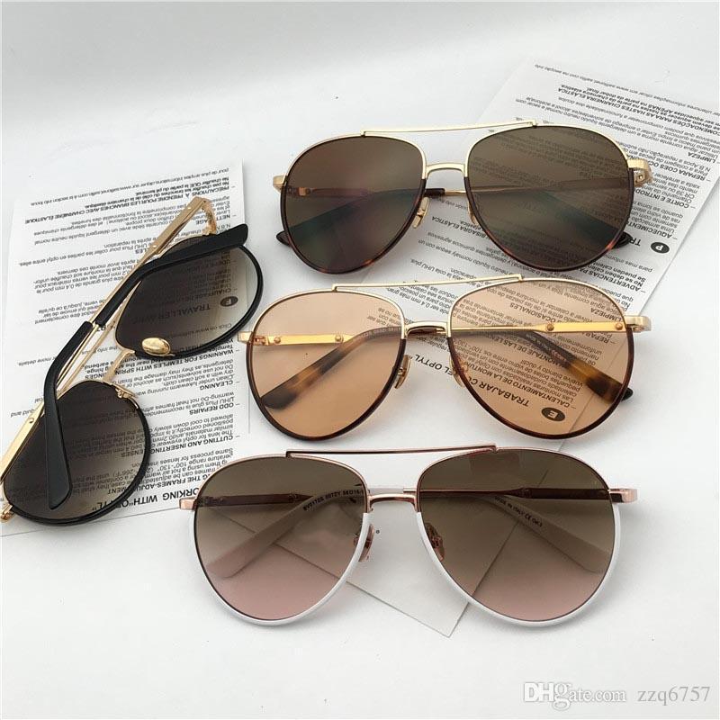 0e6ad5f281ea 2018 New Fashion Designer Sunglasses 0172 Retro Pilot Metal Frame Vintage  Fashion Style Popular Design Style Top Quality With Box Glasses Online  Polarized ...
