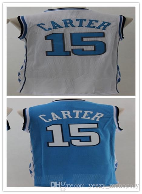 2018 ncaa university of north carolina jerseys 15 vince carter white blue black jersey this quality