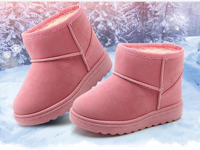 3fdab879e Compre Nuevos Botas De Invierno Para Niños Zapatos Gruesos Y Cálidos  Bufanda De Gamuza Acolchada De Algodón Niños Niñas Botas Niños Botas De  Nieve Zapatos ...