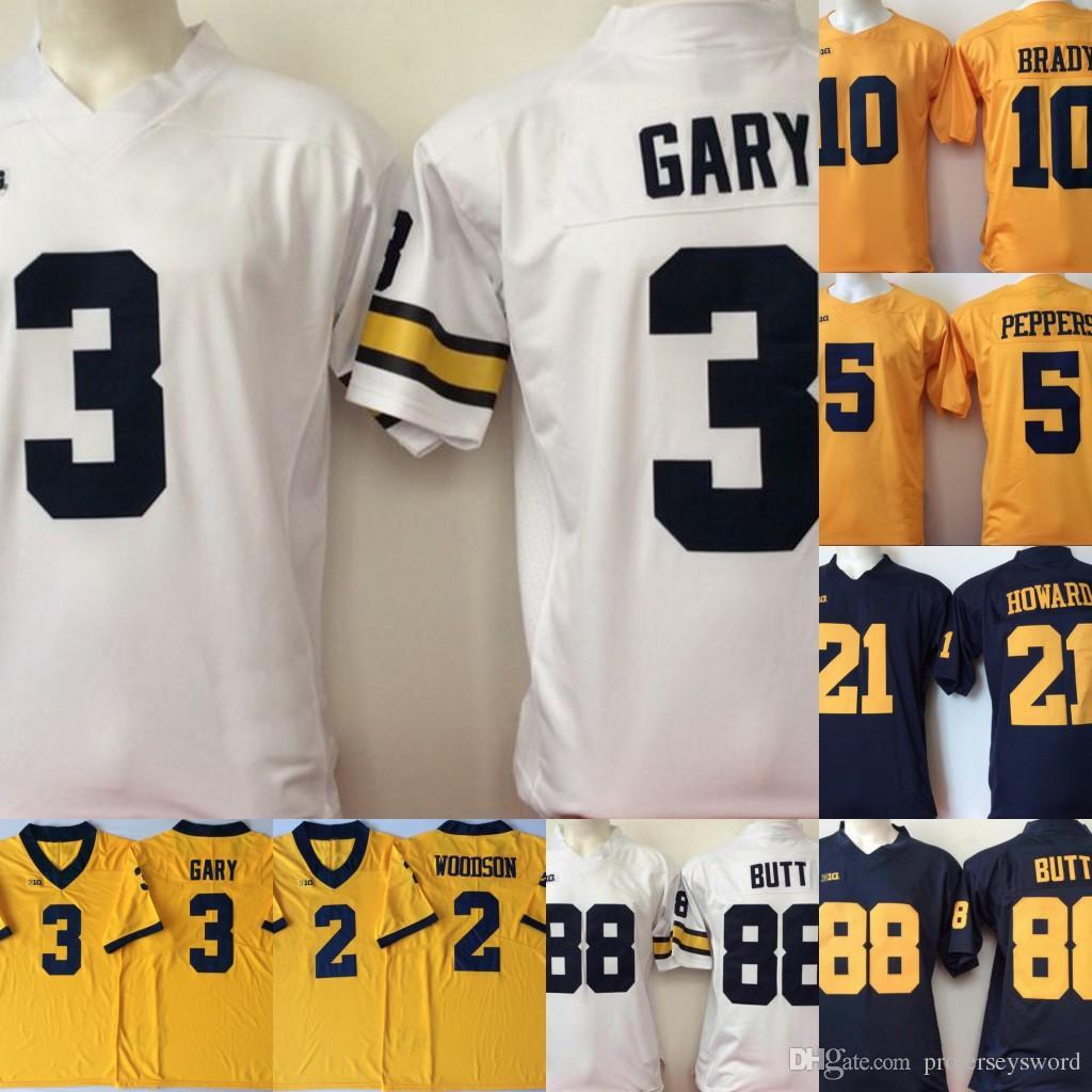 info for 63a6f 7203e Mens Michigan Wolverines College Jersey 3 Rashan Gary 21 Desmond Howard 10  Tom Brady Jersey Hot Sale Football Jerseys