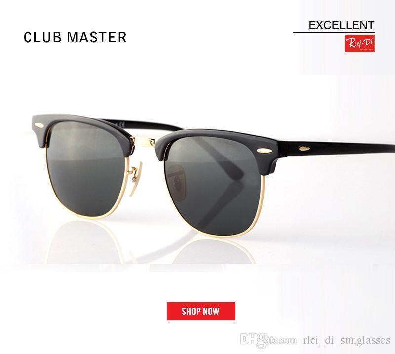 0634a8696dd94 Compre Nueva Fábrica Caliente De La Venta Al Por Mayor De Calidad Superior  51mm Medio Marco Gafas De Sol Del Club De Diseño Para Mujer Para Hombre  Maestro ...