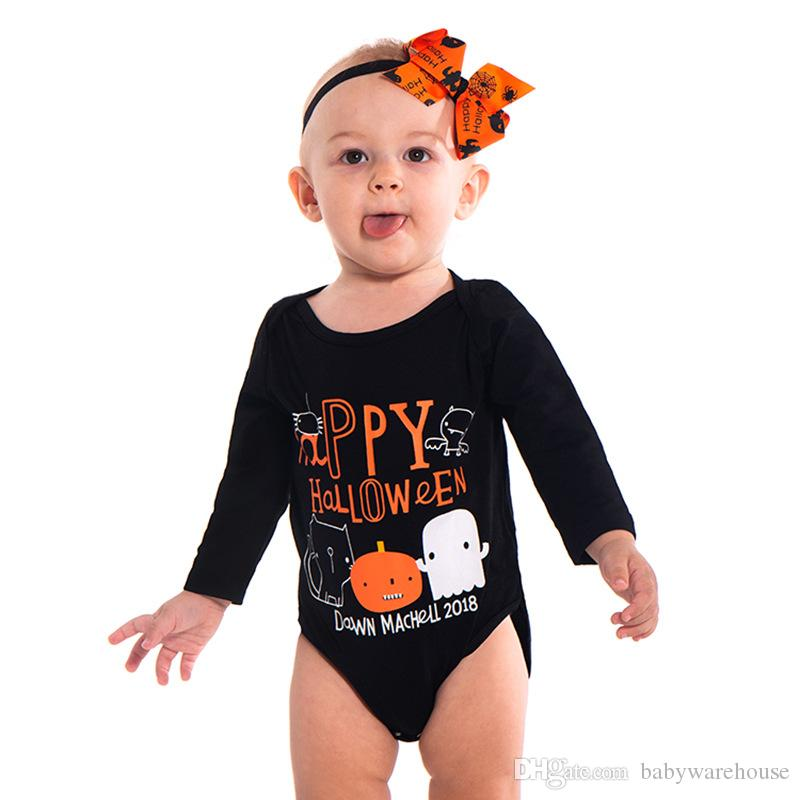 fa3916d2c 2019 2018 New Baby Rompers Long Sleeve Unisex Newborn Baby Boy Girl Cute  Happy Halloween Jumpsuit One Pieces Outfits Baby Romper Festival Clothes  From ...
