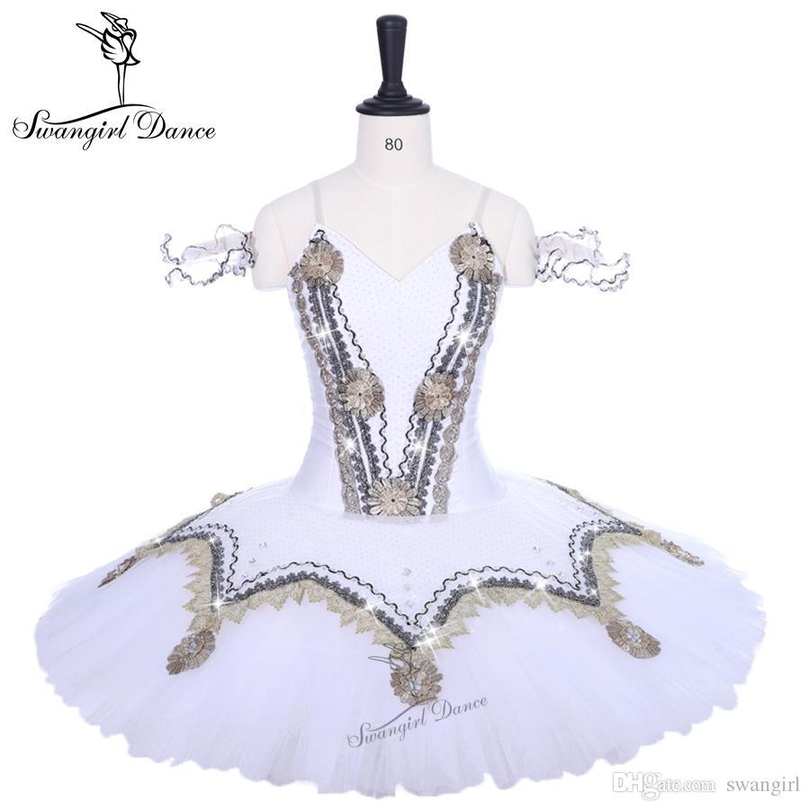 7017fcd873 Compre Adulto Desempenho Balé Vestido Criança Branco Cisne Lago Bailarina  Profissional Nutcracker Tutu Saia Para Meninas BT9194 De Swangirl