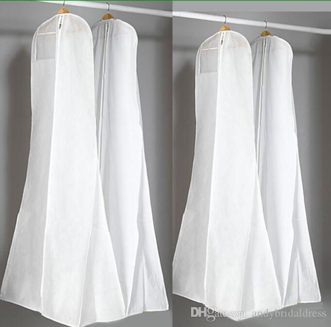 New Big 180cm Wedding Dress Gown Bags High Quality White Dust Bag Long Garment Cover Travel Storage Dust Covers Hot Sale