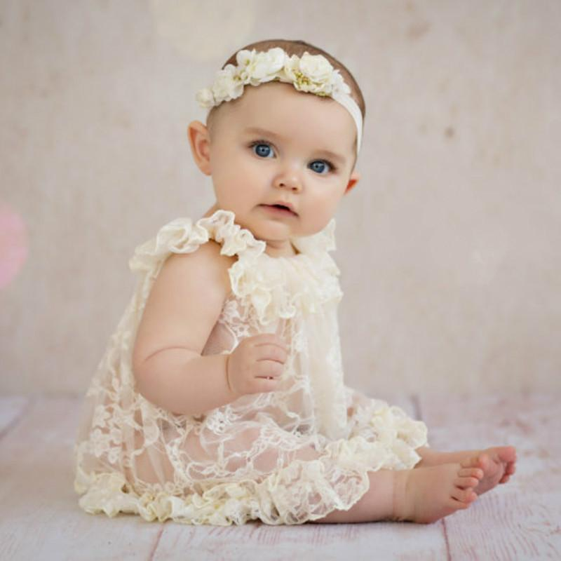 5f008afad 2019 2018 New Born Photography Props Embroidery Lace Baby Romper Jumpsuit  Newborn Photo Shoot Accessories Silk Girl Costumes Romper From Newyearable,  ...