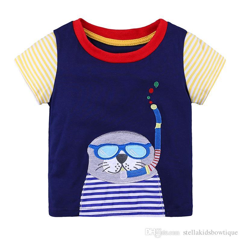 eabf67dc7c2 Cute Girls T-shirt Summer Short Sleeve Cotton T-shirt Fashion ...