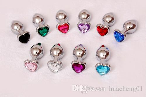 Heart Base Button Metal Butt Plug Anal Plug Sex Products for Adult Sex Game Erotic Big Men Sex Product 85*32mm