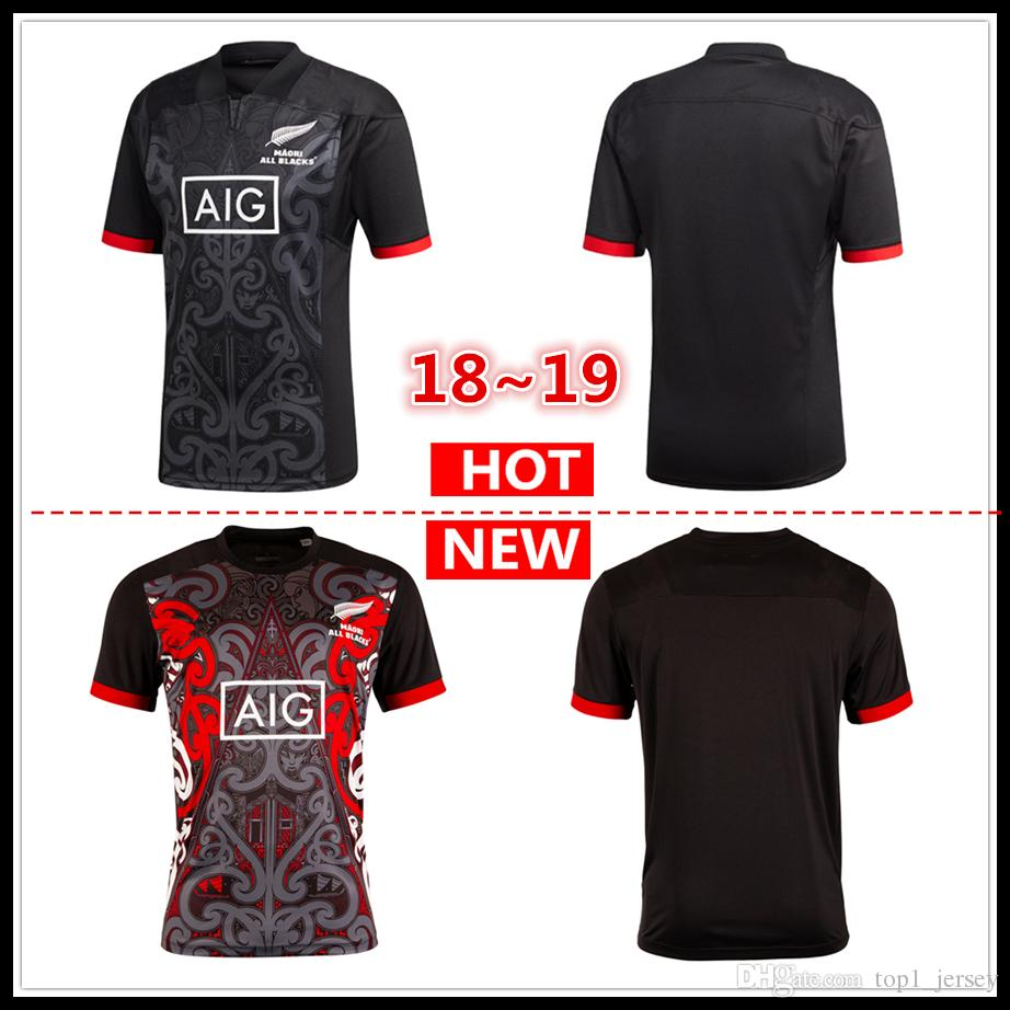 04abb224a80 2019 2018 2019 New Maori All Blacks Jersey New Zealand Maori All Blacks  HOME Shirt Super Rugby League Shirts S 3xl From Top1_jersey, $17.26 |  DHgate.Com