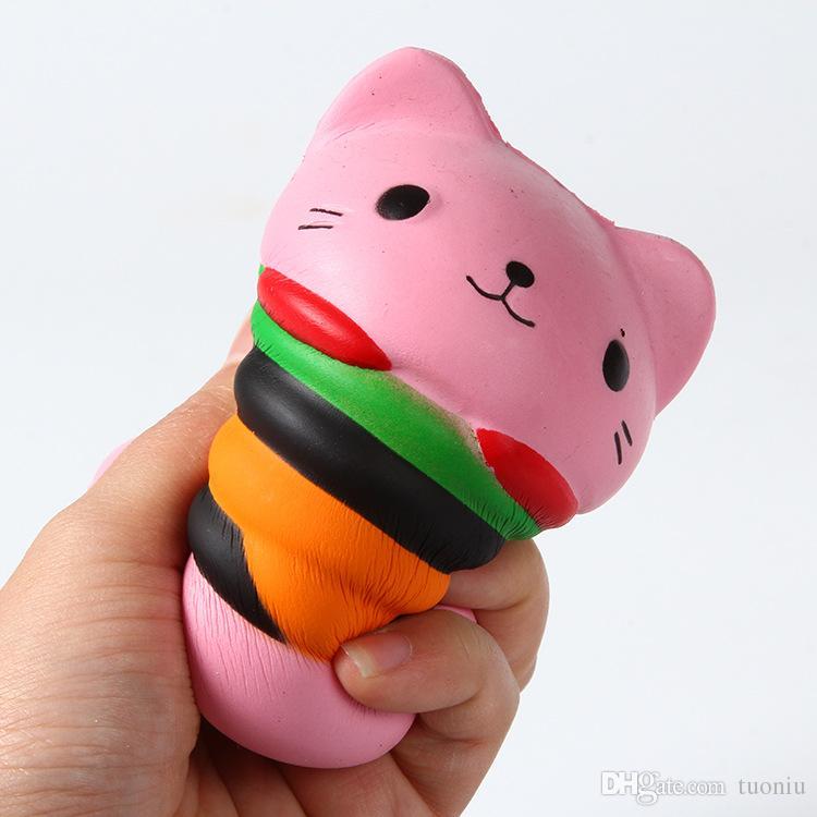 Squishy Toy Strawberry Cake popcorn milk hamburger squishies Slow Rising 10cm 11cm 12cm Soft Squeeze Cute Strap gift Stress children toys