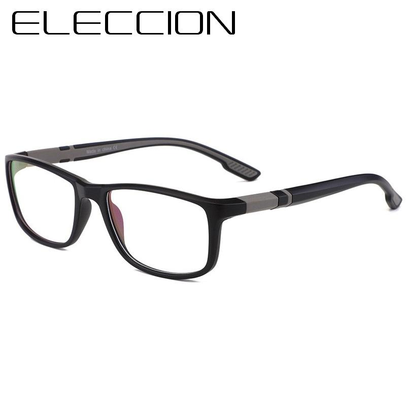291ae19087 ELECCION Sport Style Optical Glasses Frame Men Square TR90 Frame ...