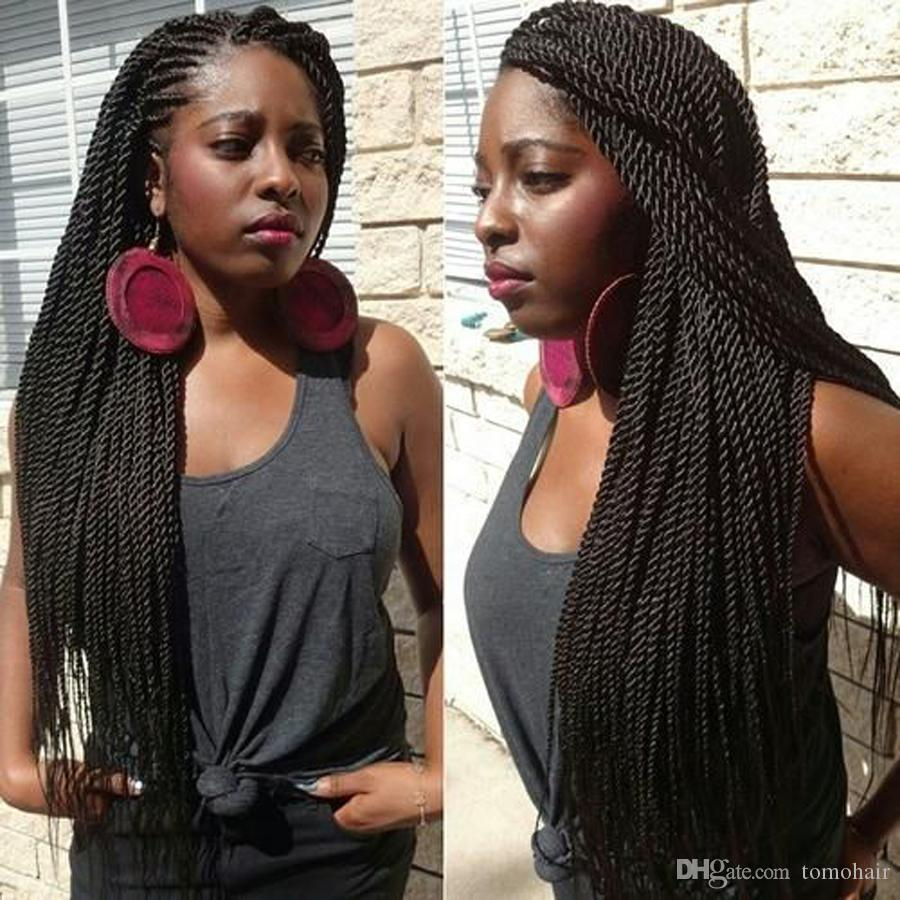 TOMO Pre Crochet Braids 30 strands/pack 14/16/18/20/22 inch Long Ombre Senegalese Twist Braid Synthetic Braiding Hair extensions for African
