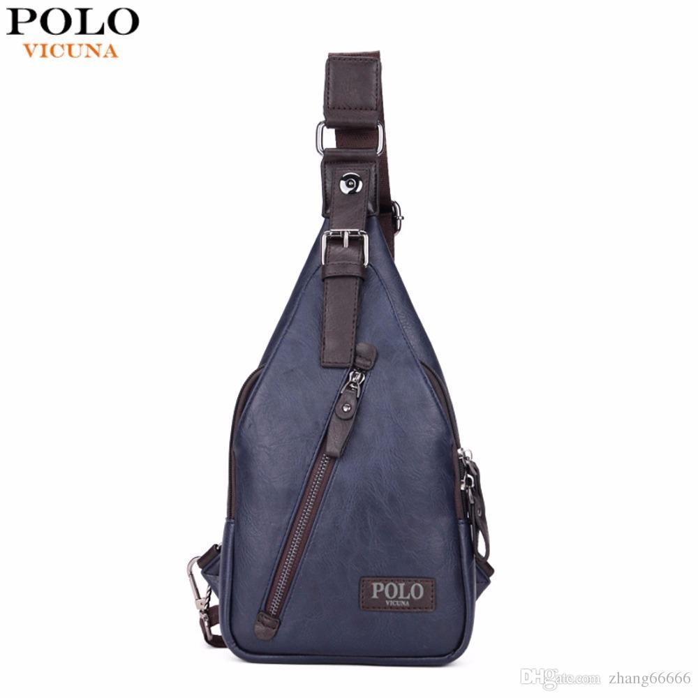 f5c8efc2383 VICUNA POLO Famous Brand Theftproof Magnetic Button Open Leather Mens Chest Bags  Fashion Travel Crossbody Bag Man Messenger Bag Crossbody Bags Chest Bags ...