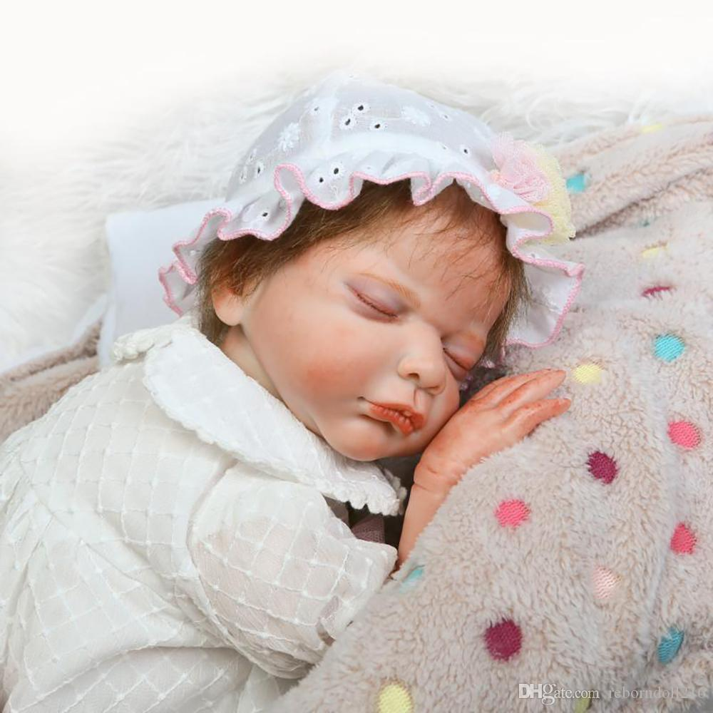 50cm silicone reborn baby girl sleeping doll toy 20inch princess