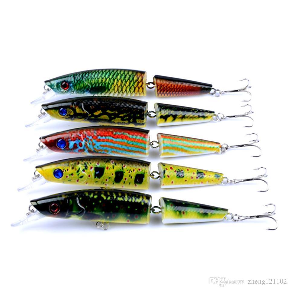 Minnow Multi-section Fishing Lure 21.7g 14cm Painting Series Japan Wobblers Artificial Crankbait Hard Bait Fishing Plopper Hook