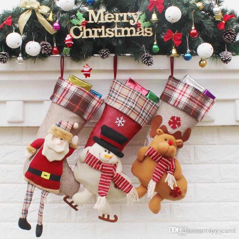 Compre 2019 Nuevas Medias De Navidad Bolsas De Regalo Decoraciones  Navideñas Regalos Decoraciones Navideñas Colgantes 50.5   59X24X21.5cm A   5.73 Del ... 760c650b230