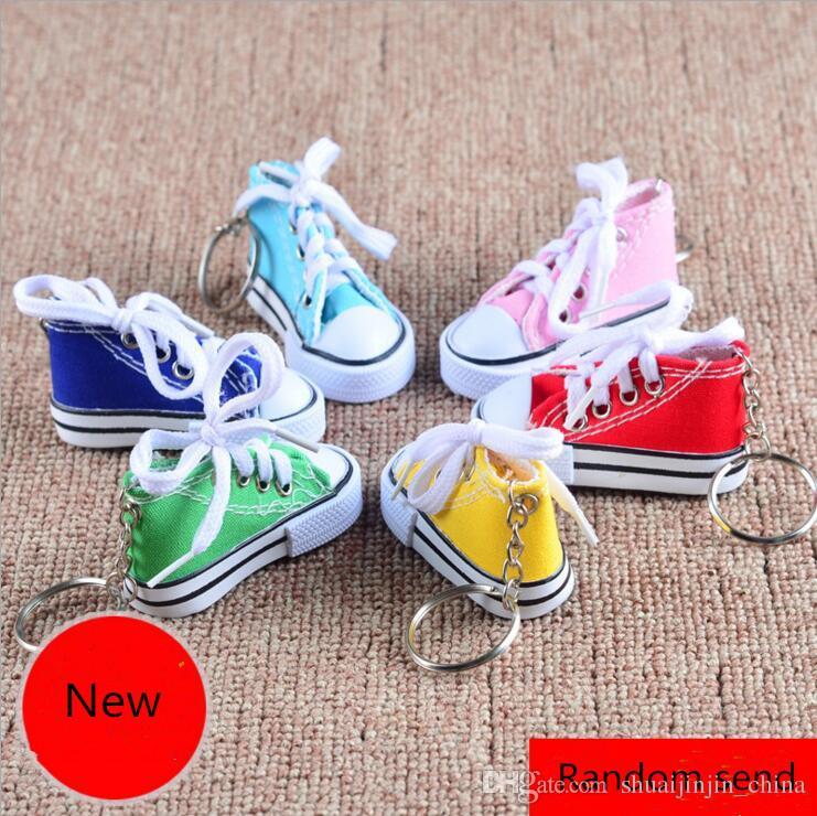 dba7bccf48d49 3D Novelty Canvas Sneaker Tennis Shoe Keychain Key Chain Party Jewelry  100pcs random colors send YYA1069
