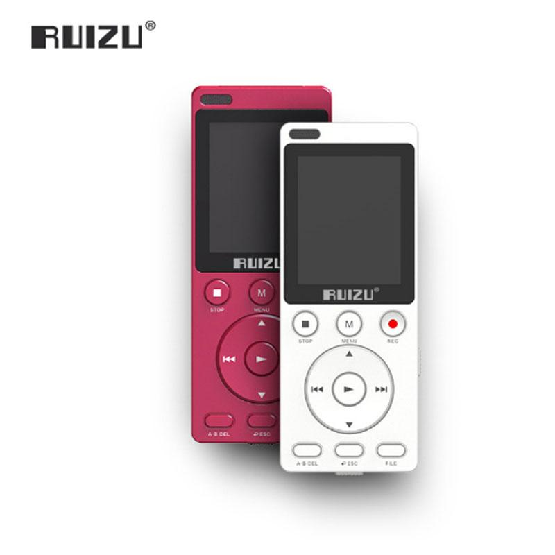 RUIZU K11 8GB Mp4 Music Player Portable Digital Voice Recorder Built-in  Loudspeaker Support TF Card One-key A-B repeat for study