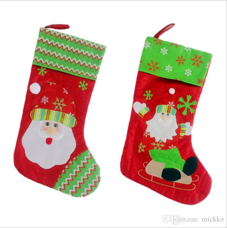 on sale cartoon embroidery christmas santa claus stocks home hotel christmas stockings decoration kids candy bag buy christmas decoration buy christmas - Where To Buy Christmas Stockings