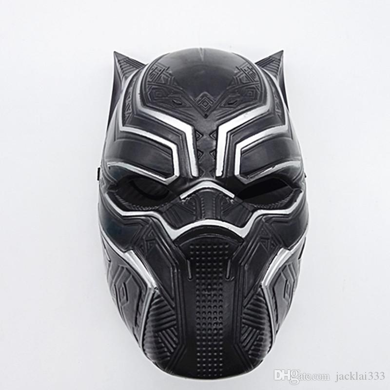 Solid 3D Black Panther Masks Movie Black Panther Cosplay Men's Plastic Party Full Mask Halloween Drop Shipping IN STOCK
