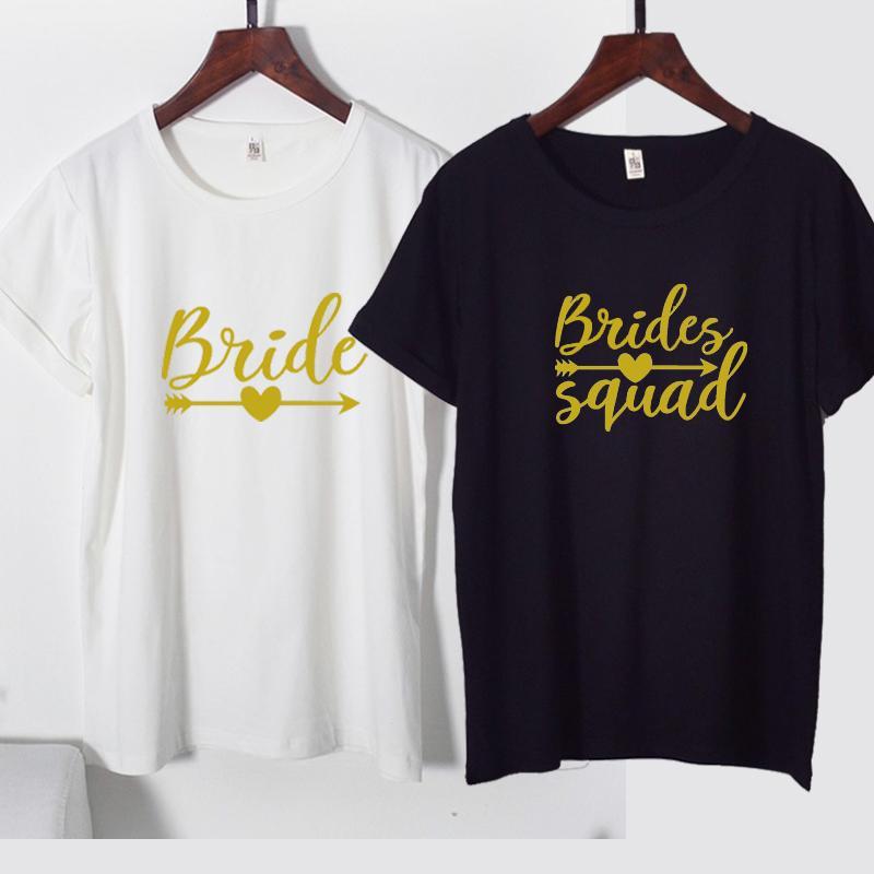 Großhandel Cfung Braut Gruppenpfeilhemd Junggesellenabschied Braut
