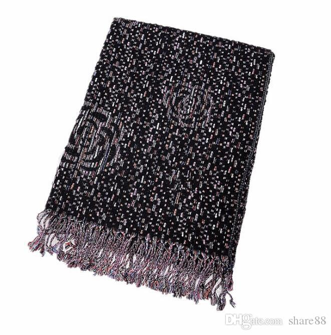 2f7657a9d011 Elegant And Famous Lady Style Camellia Knitted Scarf Female High ...
