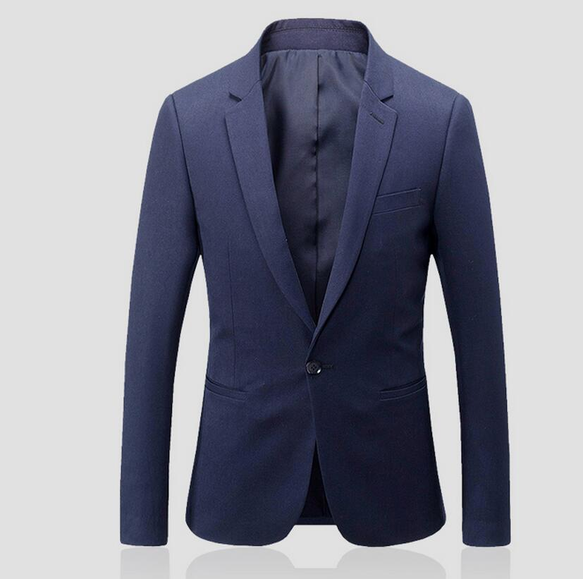 A grain of buckle men's suit jacket wedding the groom's best man suit jacket formal occasio pure color long sleeve business