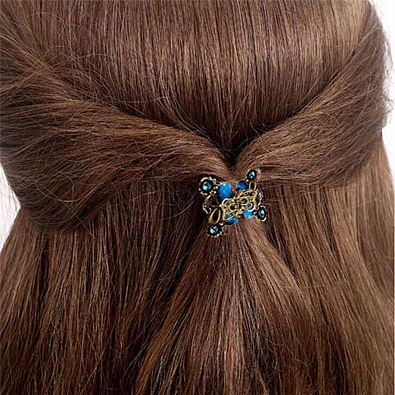 Women Fashion Hair Accessories Hairpins Crab Retro Mini Butterfly Hair Claw Clip Headband For Lady Girls