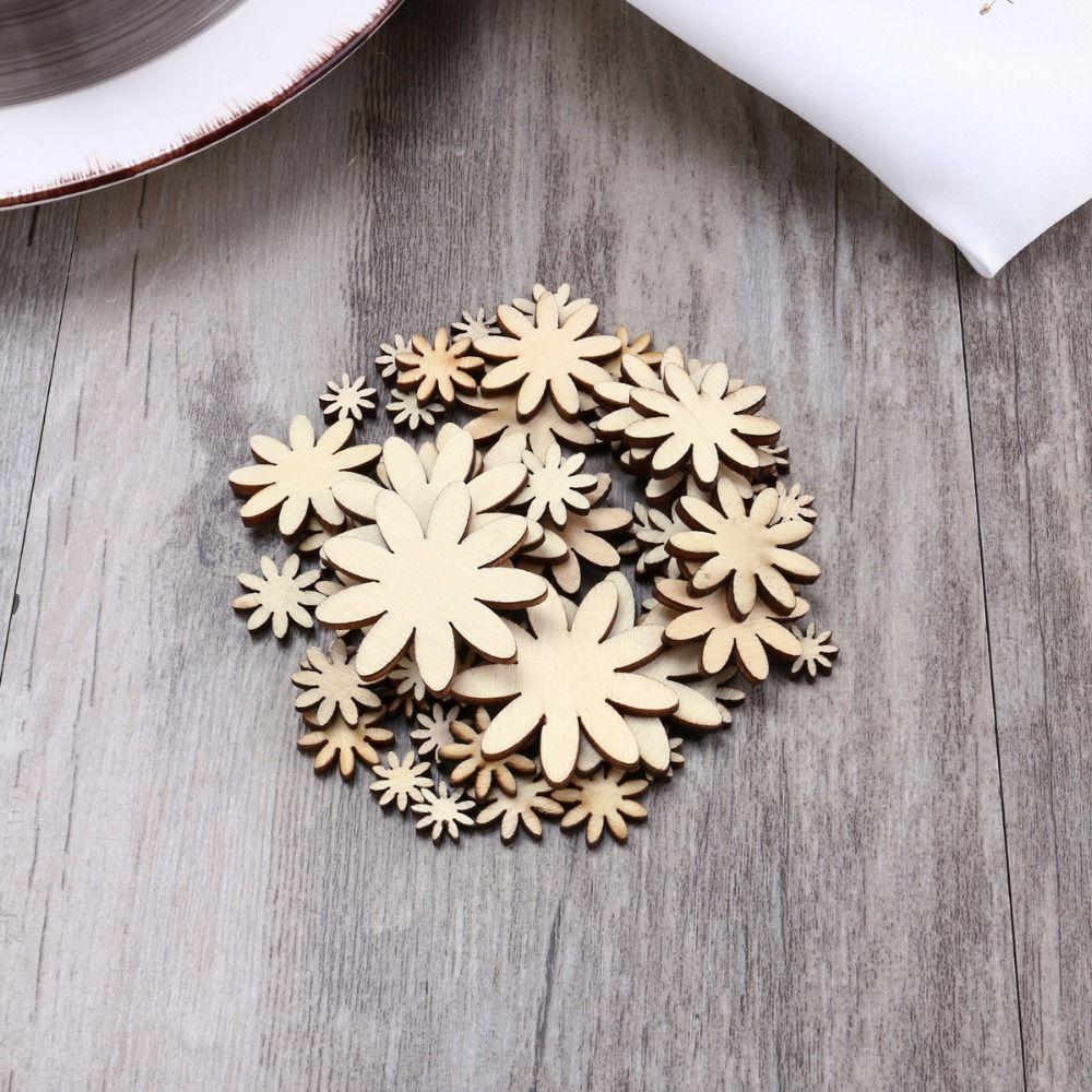 Eco-friendly Plum Embelishment Decorative Floral Ornament Wood Craft Christmas Wedding Party Decor Favors