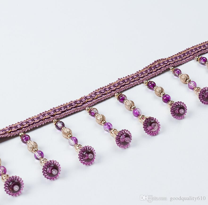15 Meter Blume Perle Quaste Anhänger Hängen Spitzenbesatz Band Für Fenster Vorhänge Hochzeit Dekorieren Nähen DIY