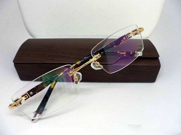 ca2c7419a63 Classical Optical Prescription Glasses Frame Rimless Rectangular ...